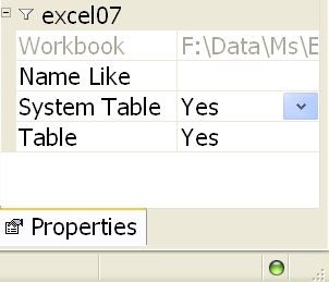 CompareData Microsoft Excel DBMS Notes